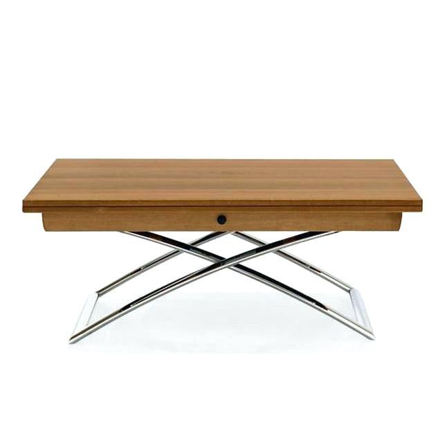 Table basse relevable extensible bois