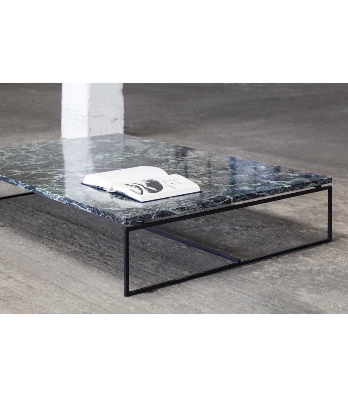 Table basse marbre metal