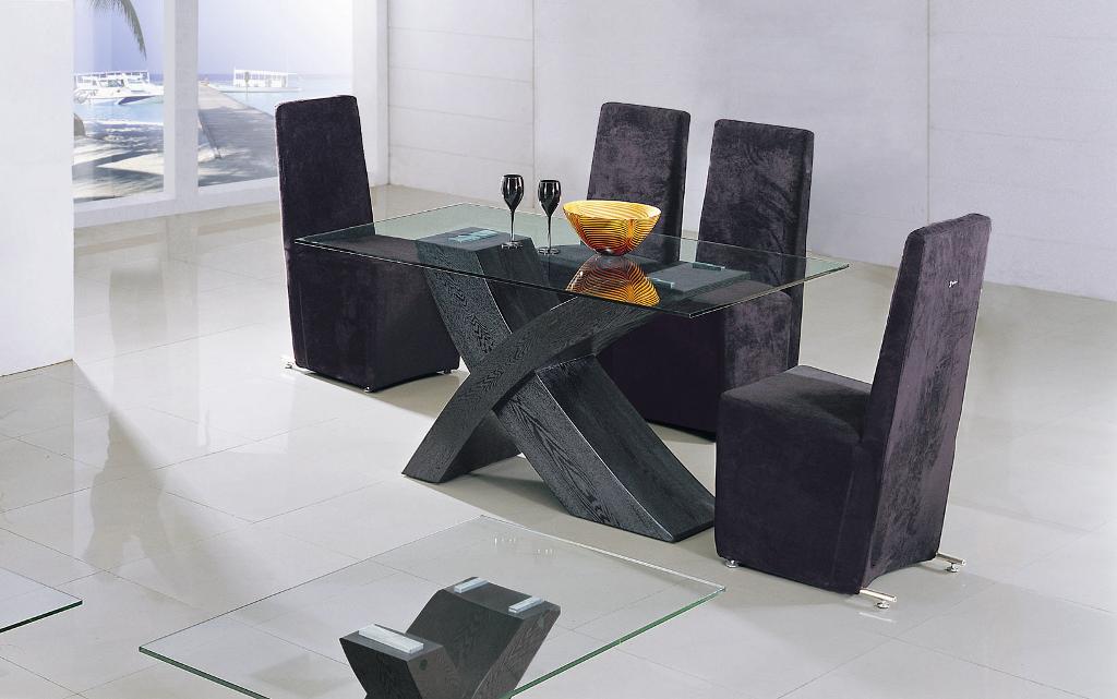 Table De Cuisine Verre Noir Tendancesdesign Fr