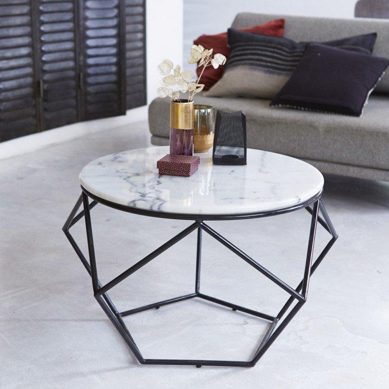 Table basse de salon marbre